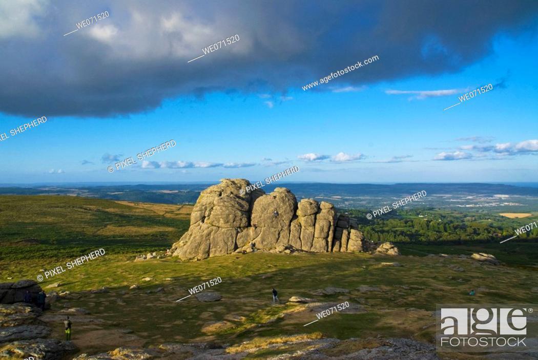 Stock Photo: Europe, UK, England, Devon Dartmoor Haytor hay tor.
