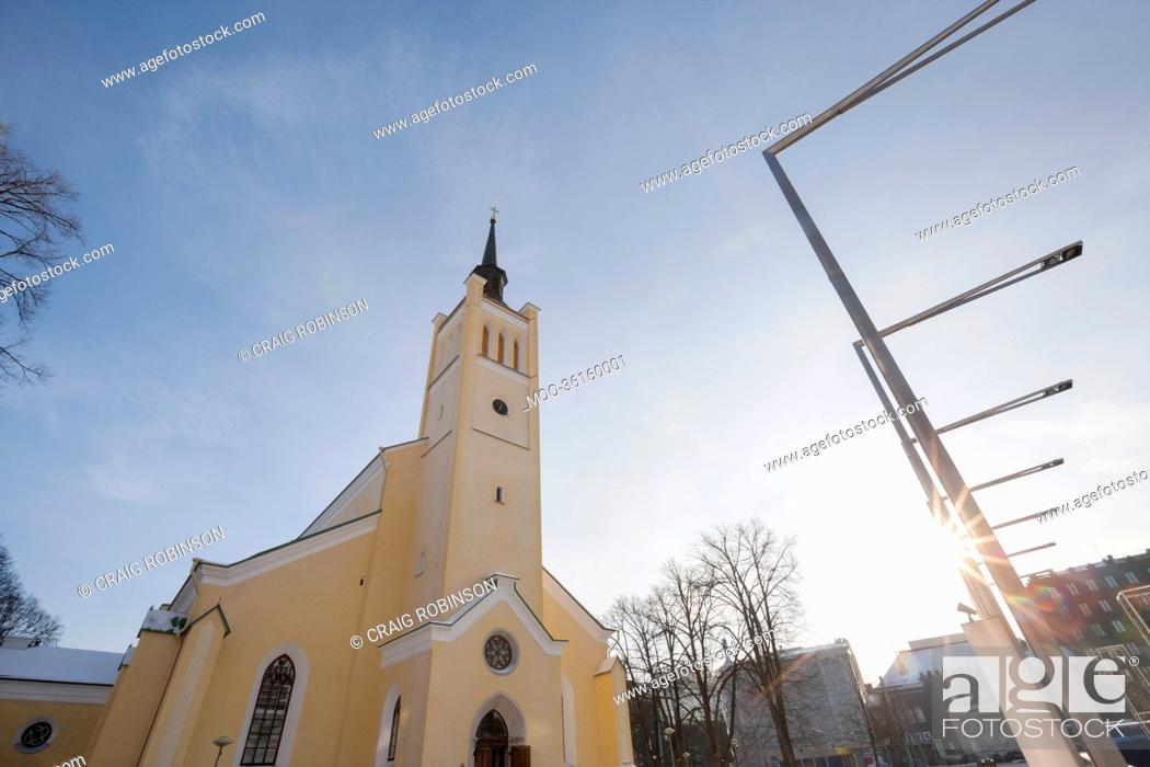 Stock Photo: Exterior of St. John's Church, Tallinn, Estonia, Europe.