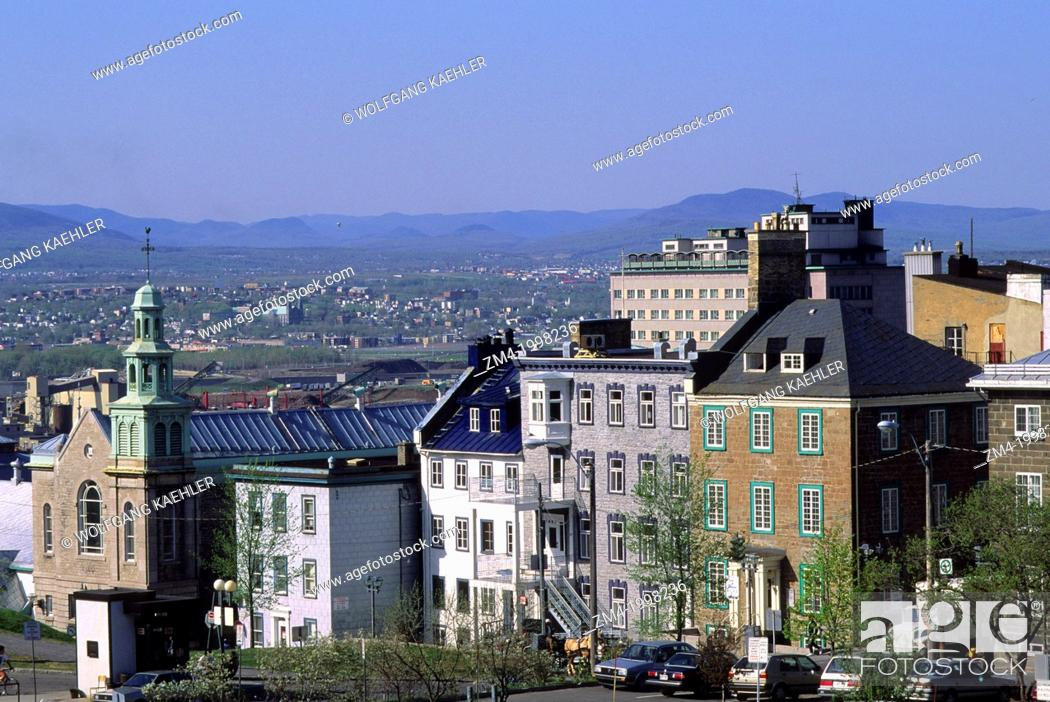 Stock Photo: CANADA,QUEBEC,QUEBEC CITY, VIEW OF CITY FROM TOWN WALL.