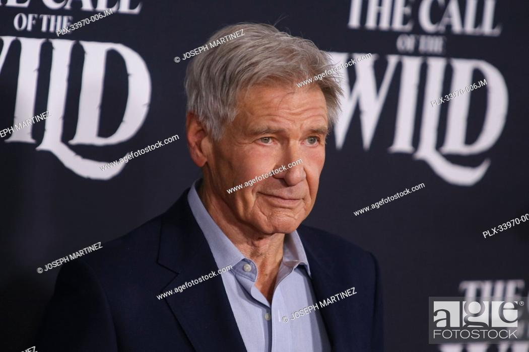 "Stock Photo: Harrison Ford at """"The Call Of The Wild"""" World Premiere held at El Capitan Theatre in Los Angeles, CA, February 13, 2020."