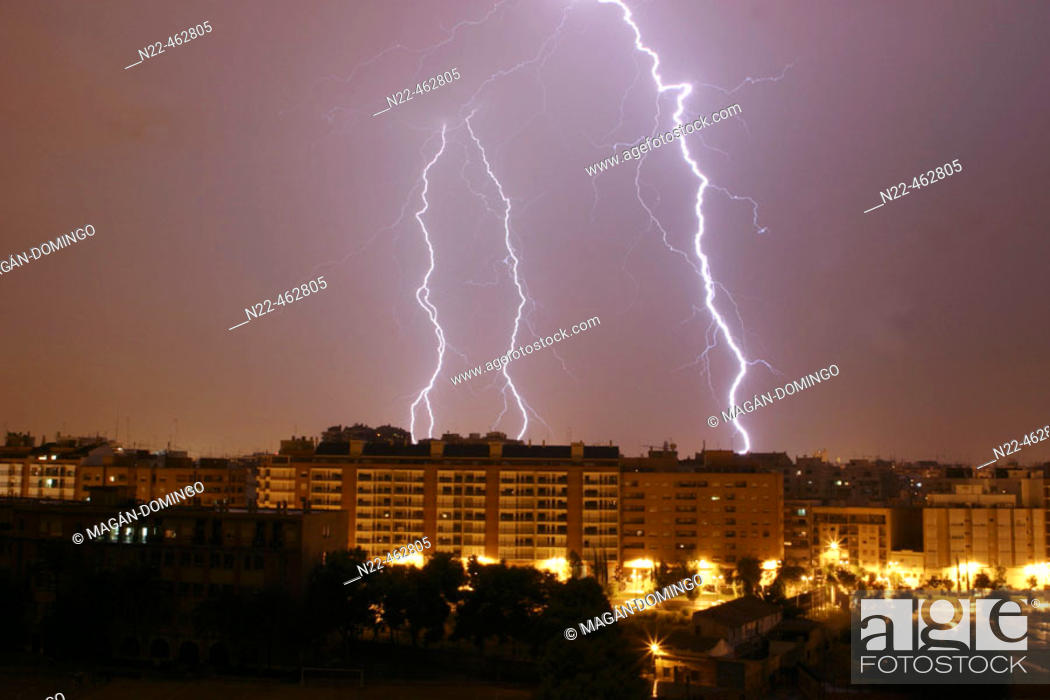 Stock Photo: Lightning, storm.
