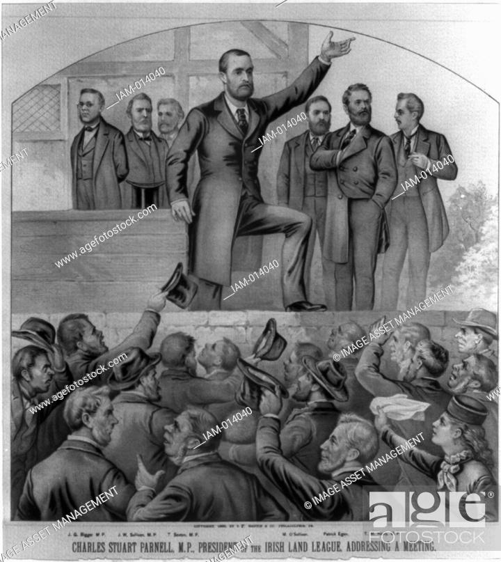 Stock Photo: Charles Stewart Parnell (1846-1891) Irish nationalist, political leader and champion of Home Rule. Parnell, President of the Irish Land League.