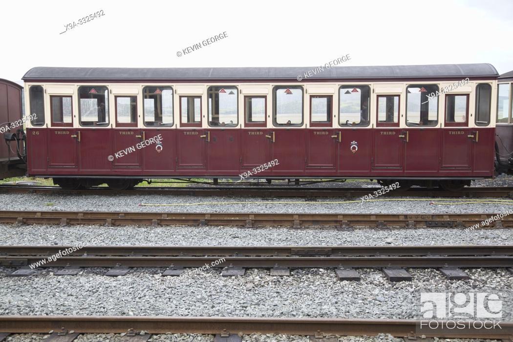 Photo de stock: Carriage of Ffestiniog and Welsh Highland Railways; Porthmadog; Wales; UK.
