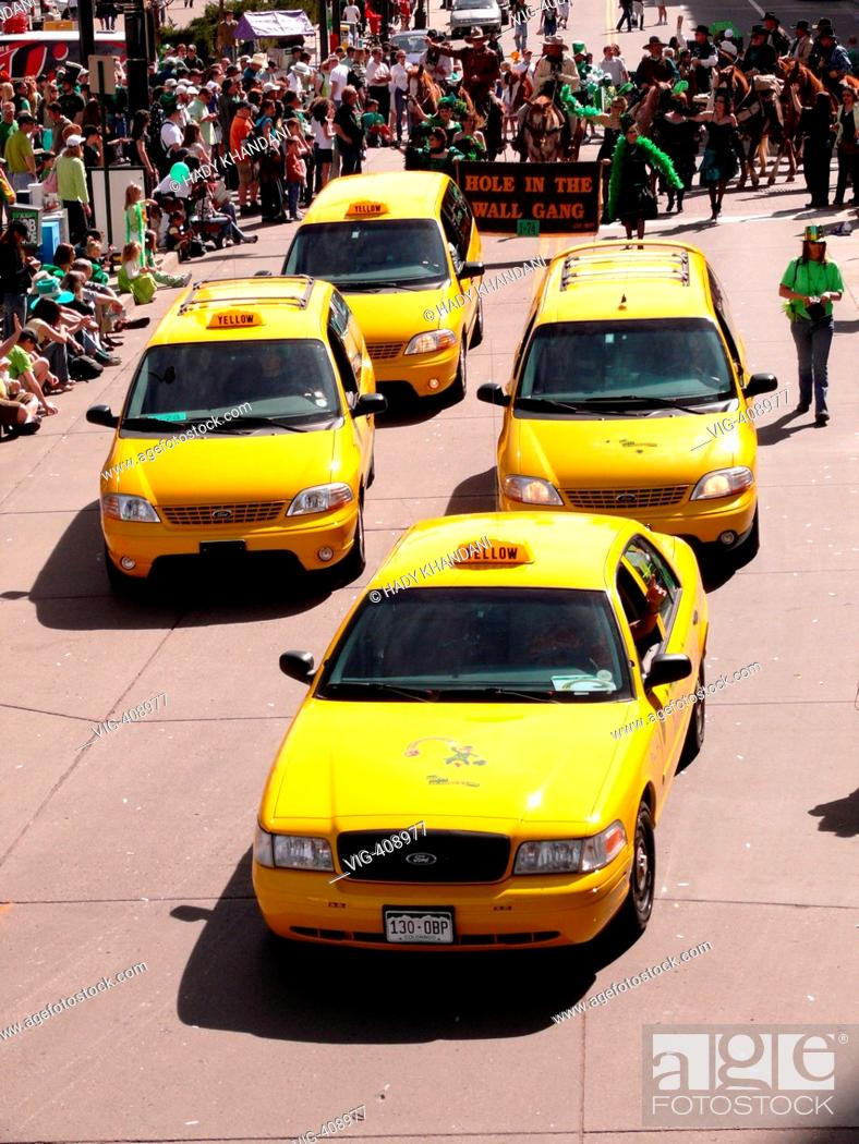 Yellow Cab Denver >> Scene St Patrick S Day Parade In Denver Yellow Cabs