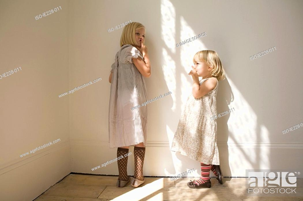 Stock Photo: Girls being silent.