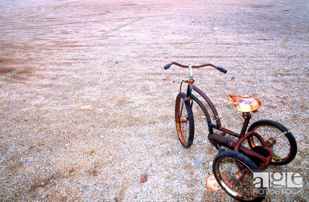 Stock Photo: Old tricycle.