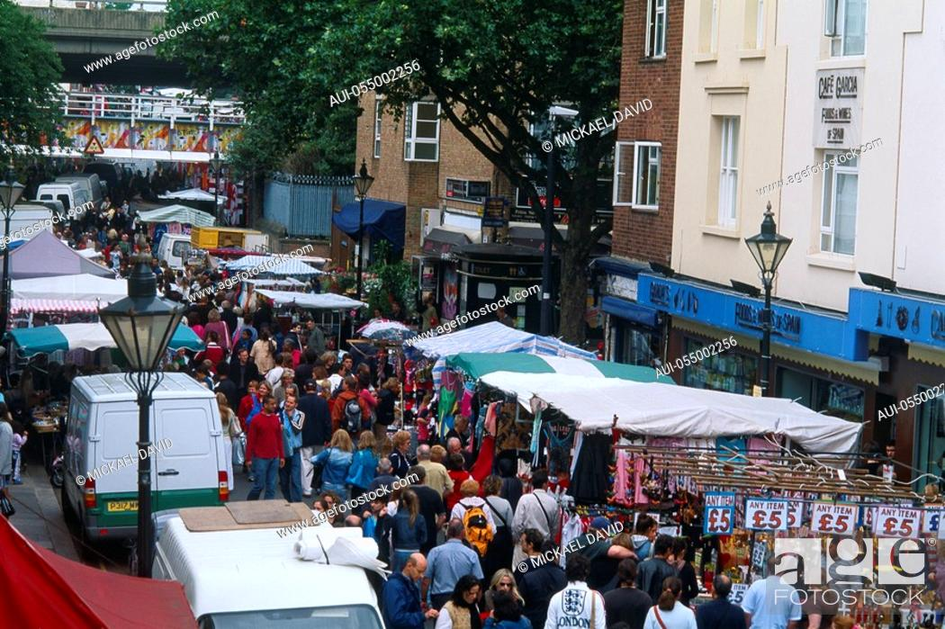 Stock Photo: England - London - District Notting Hill - Portobello Road Market.