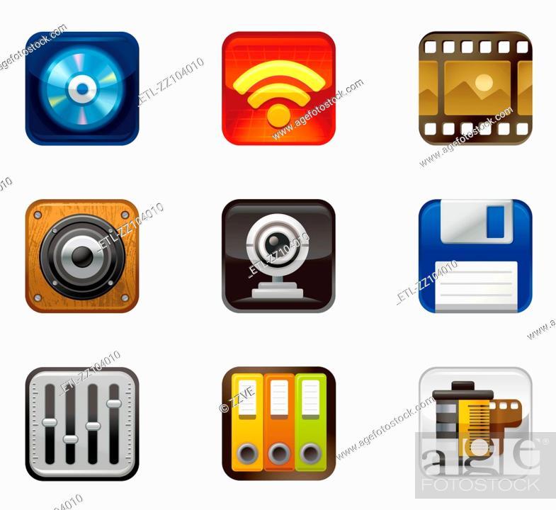 Stock Photo: Storage Set Icon.
