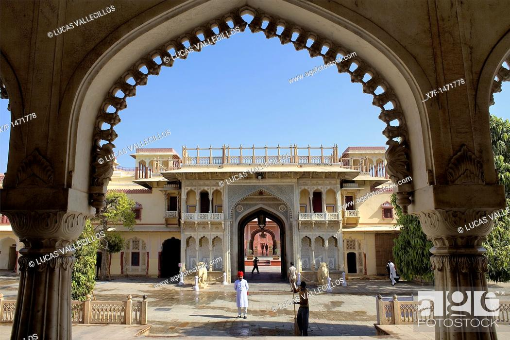 Rajendra Pol Gateway Inside City Palace Jaipur Rajasthan India