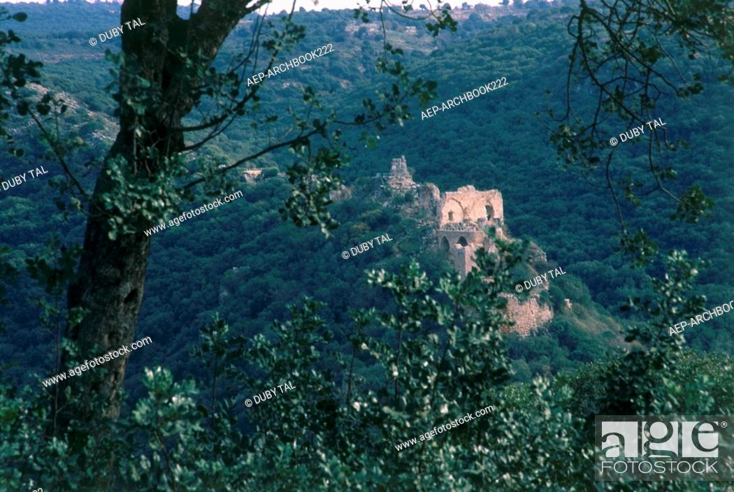Stock Photo: Photograph of the Castle of Montfort in the western Galilee.