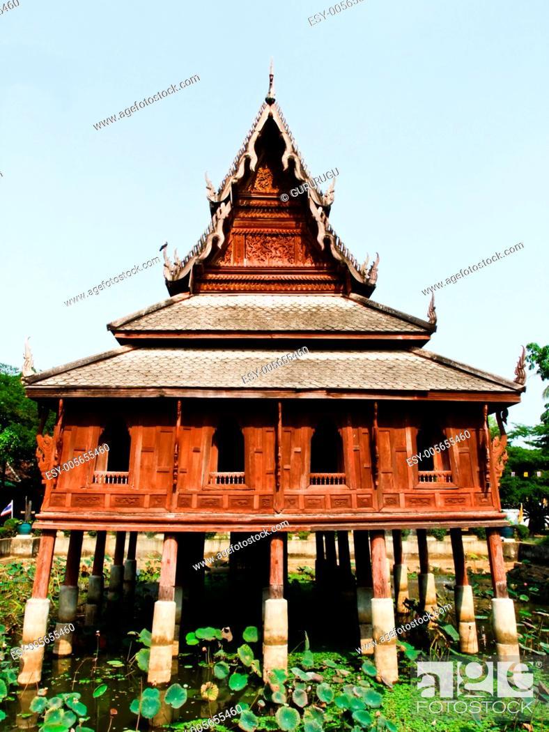 Stock Photo: Tripitaka house, Wat Thuang Sri Nuang, Ubonratchathani, Thailan.