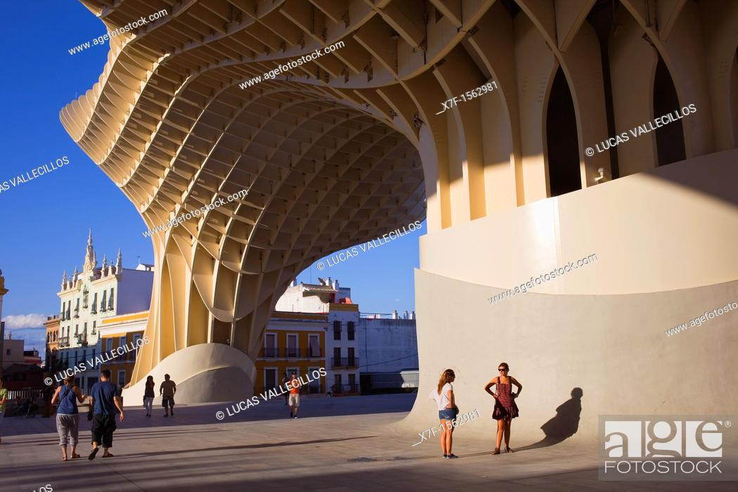 Stock Photo: Metropol Parasol, in Plaza de la Encarnación, Sevilla, Andalucía, Spain.