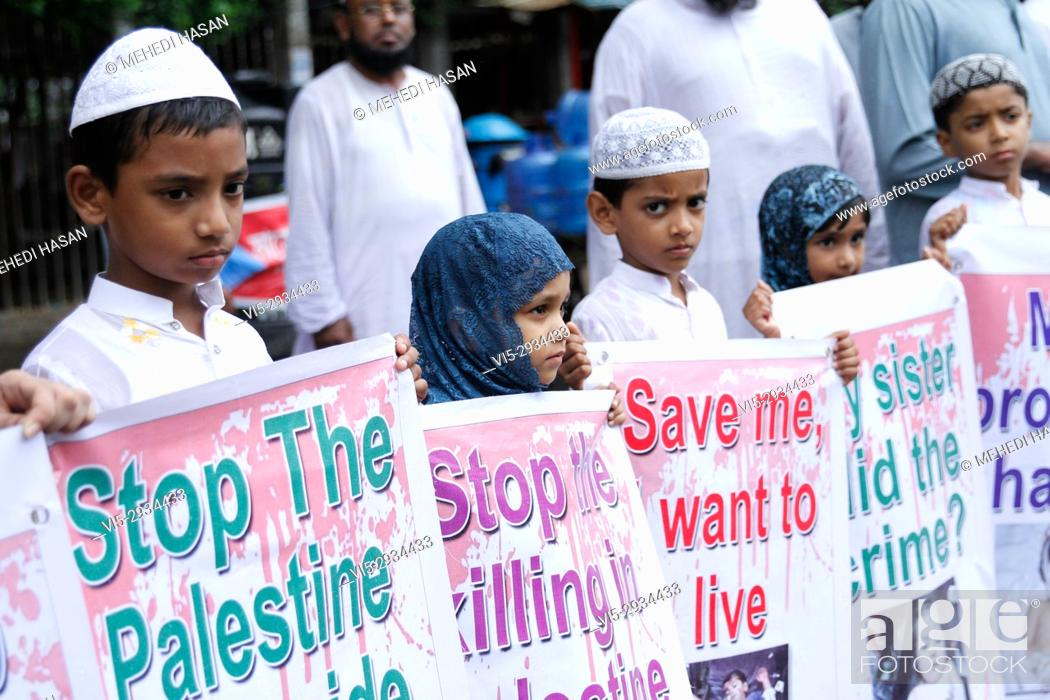 Bangladeshi Madrasa Students Made A Protest Against Israel S