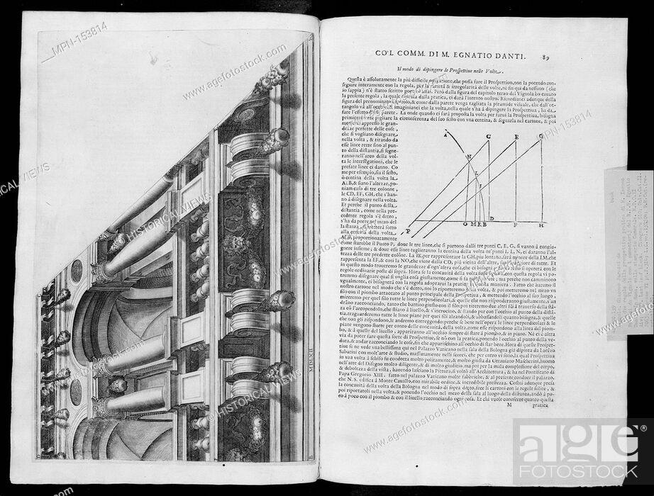 Stock Photo: Le due regole della prospettiva practica di M. Iacomo Barozzi da Vignola. Author: Written by Jacopo [Giacomo] Barozzi da Vignola (Italian.