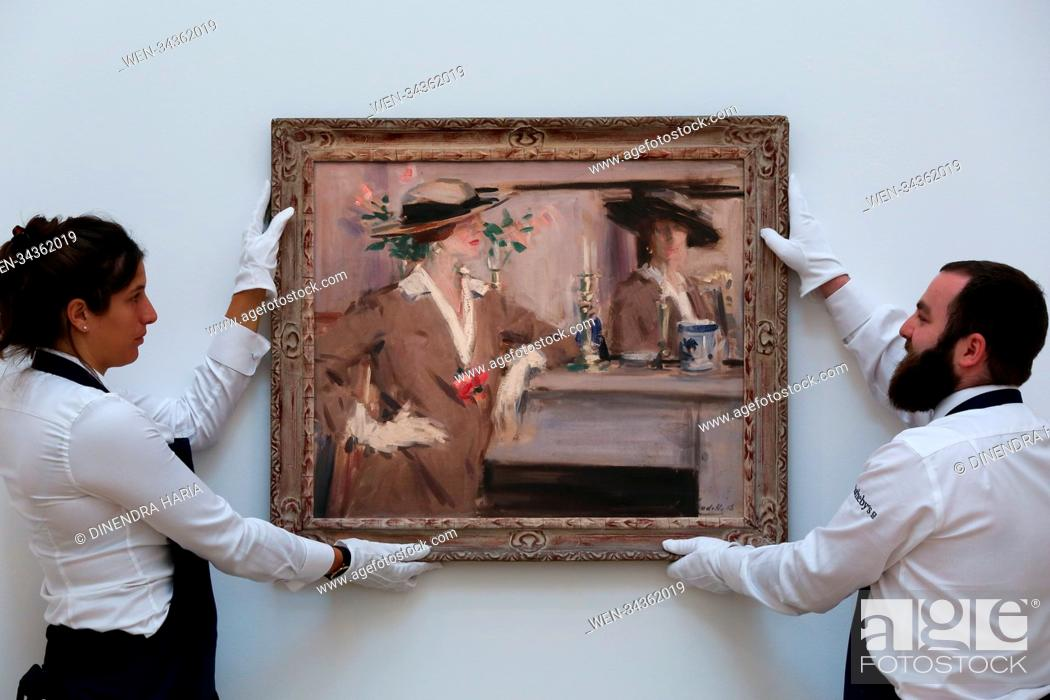 Stock Photo: Sotheby's showcasing modern & post-war British artworks by Britain's most pioneering artists. Auction to take place on 12 June 2018 as part of Sotheby's Modern.