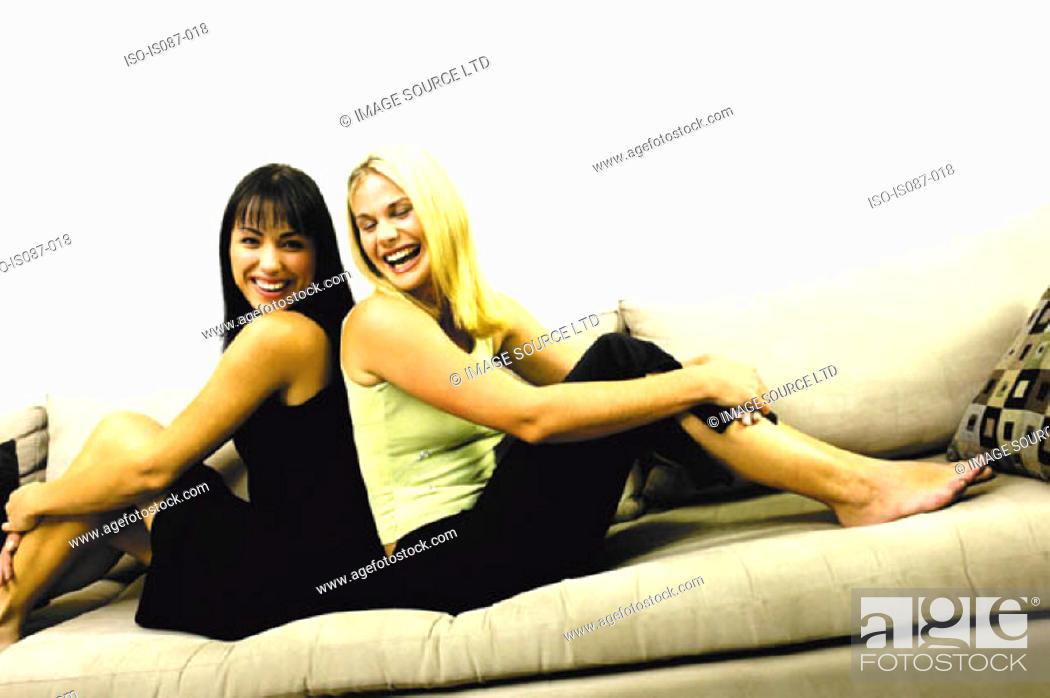 Stock Photo: Girls laughing.