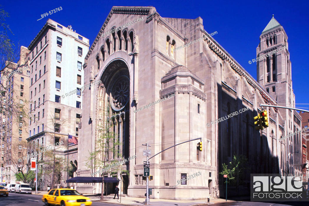 Temple Emmanuel Fifth Avenue Manhattan New York Usa Stock Photo