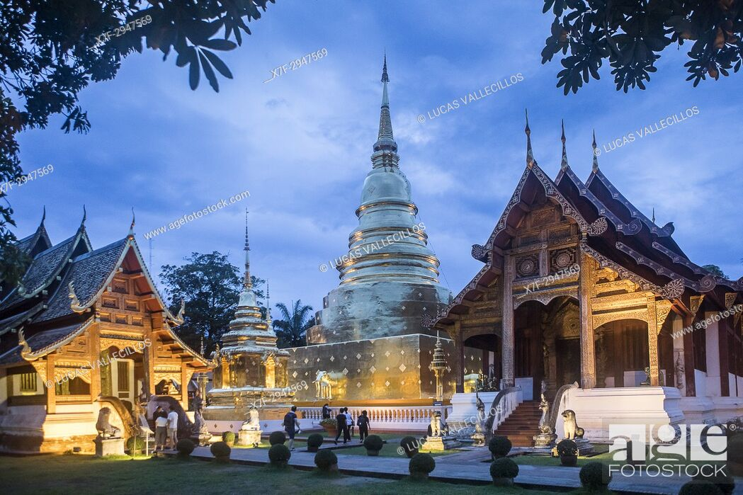 Stock Photo: Wat Phra Singh temple, Chiang Mai, Thailand.
