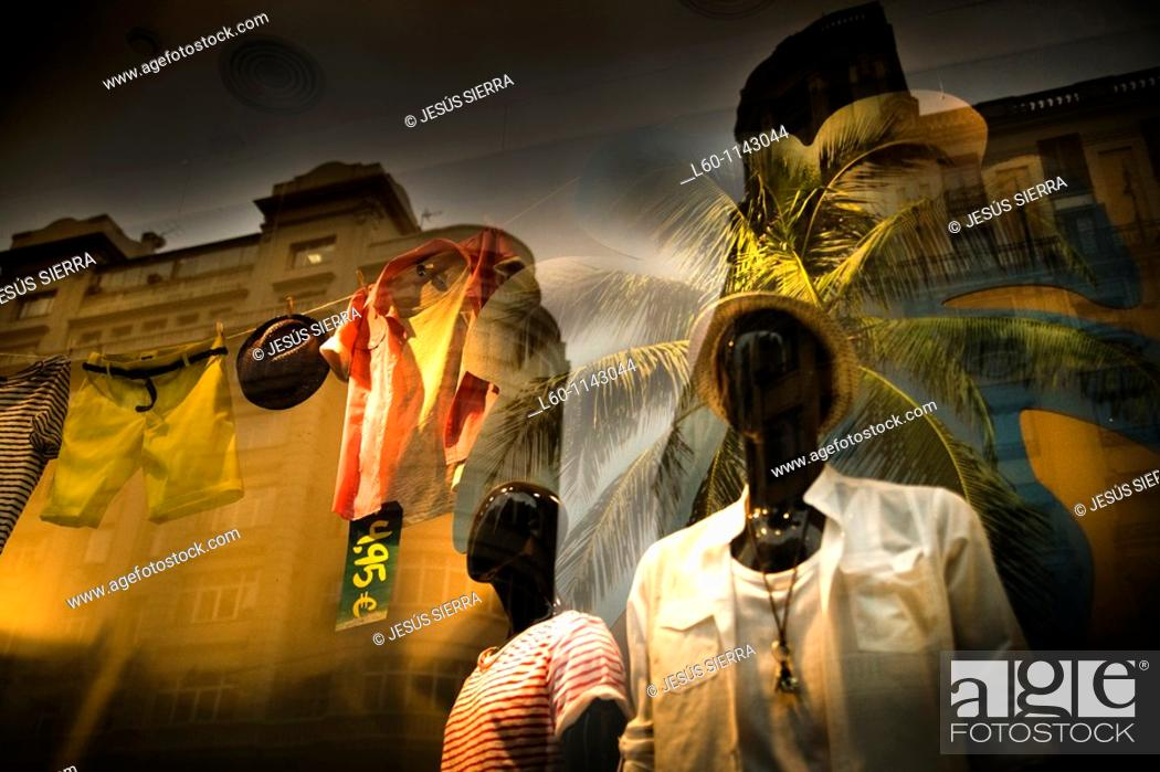 Stock Photo: Summer Shop in Madrid.