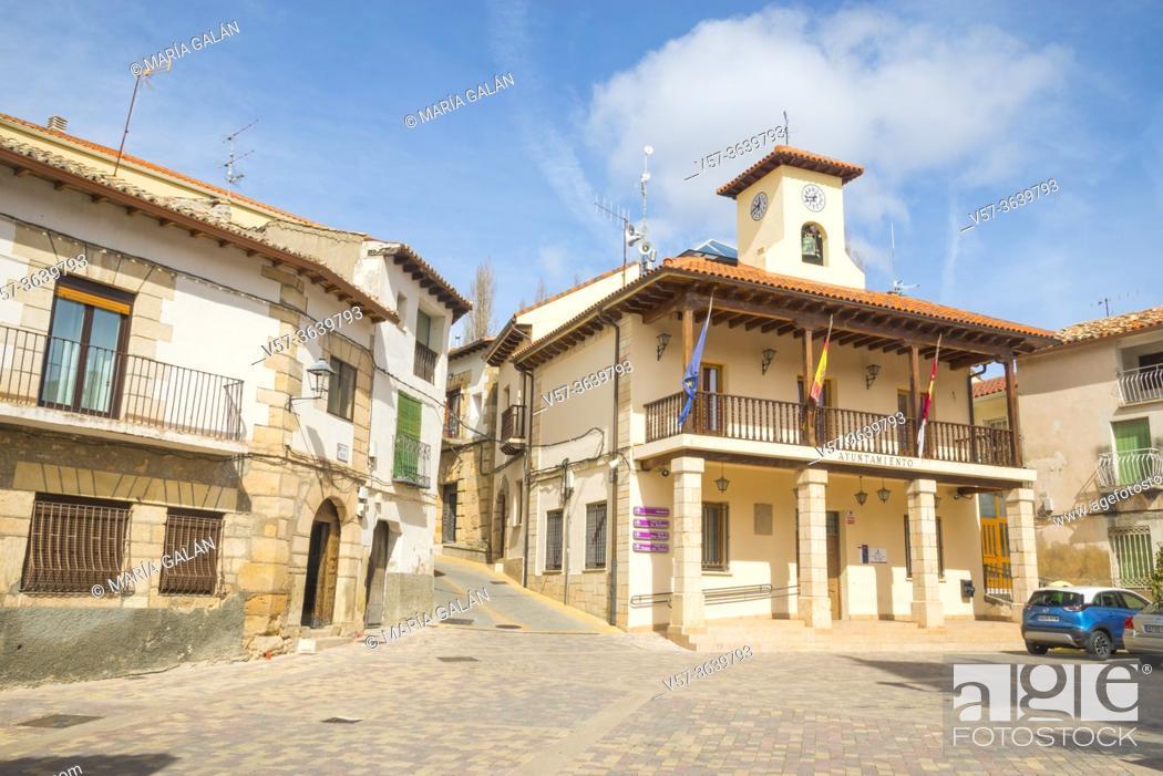 Stock Photo: Town hall. Trillo, Guadalajara province, Castilla La Mancha, Spain.