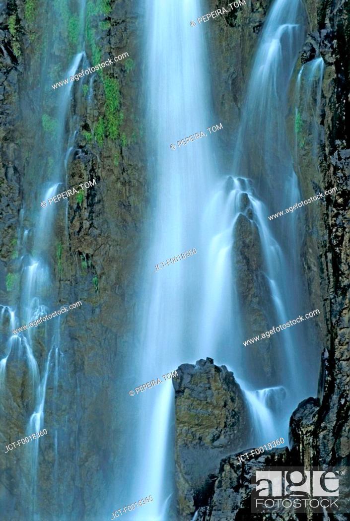 Stock Photo: Reunion, Sainte-Suzanne, Niagara Waterfall.