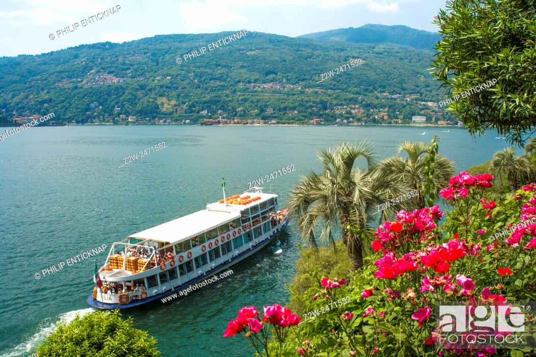 Stock Photo: Lake Maggiore or Lago Verbano is a large lake located on the south side of the Alps. It is the second largest lake in Italy in the Lombardy region.