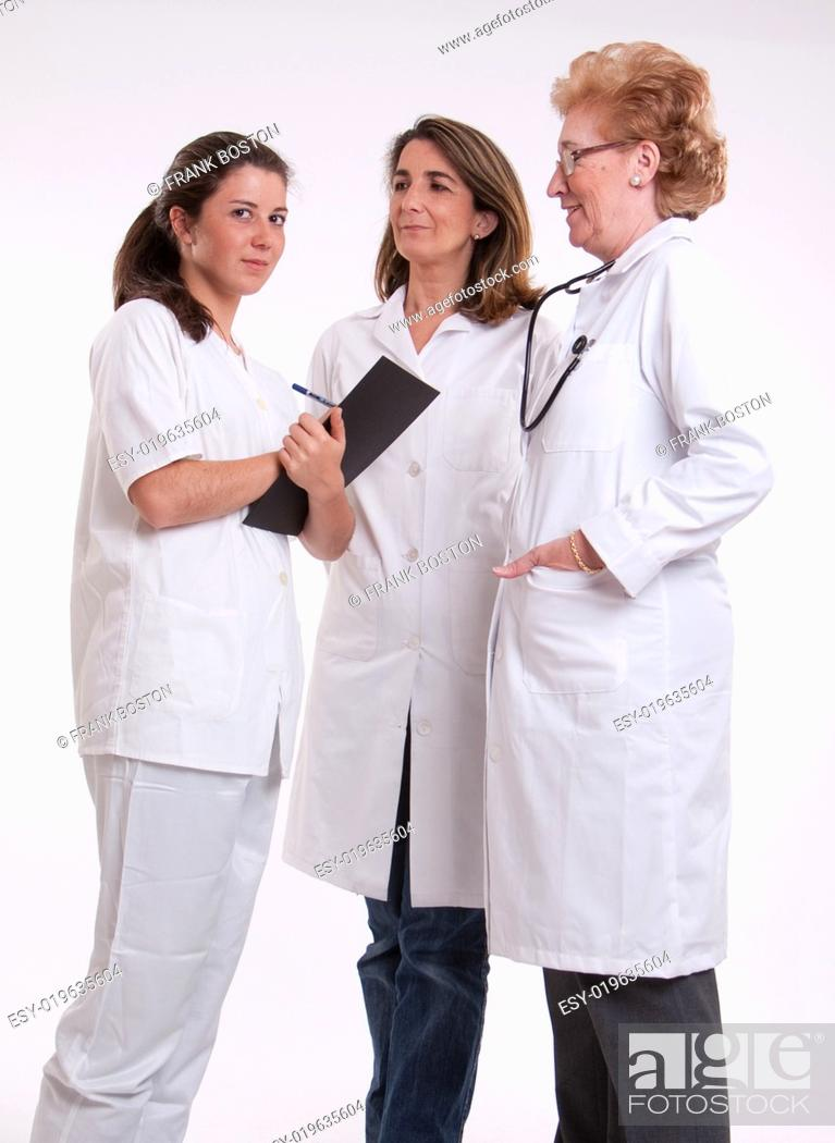 Stock Photo: Female medical personnel.