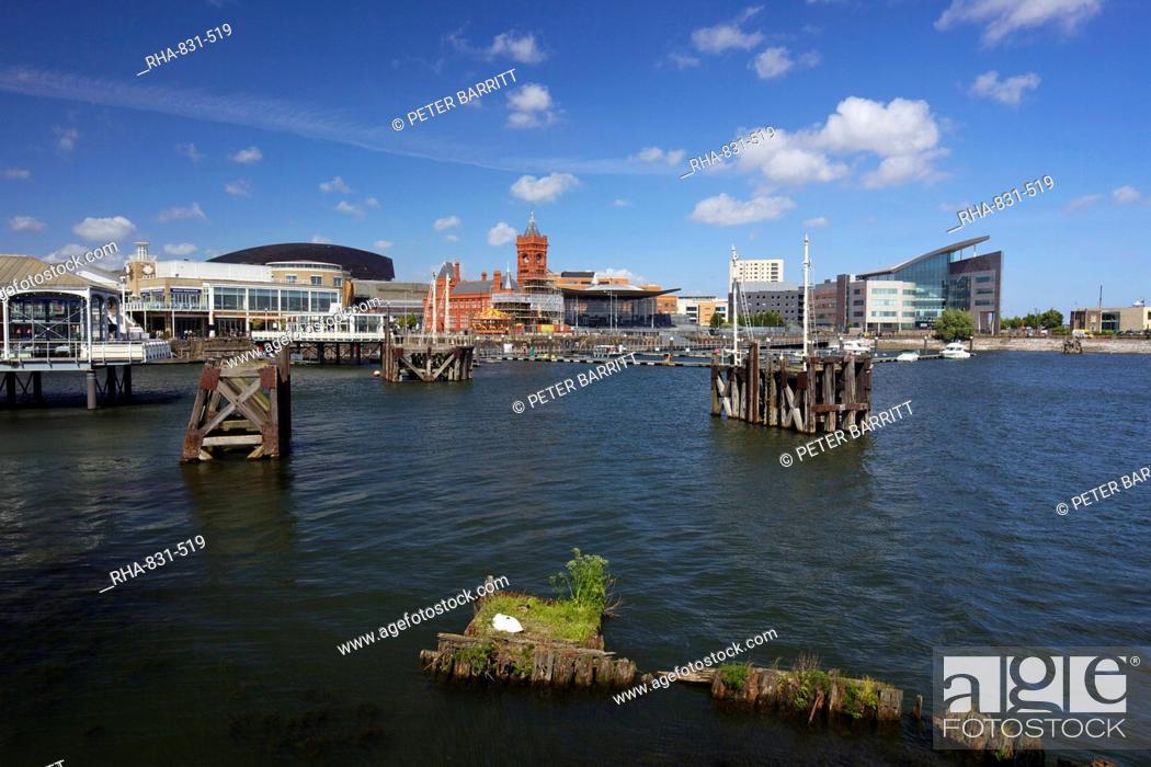 Stock Photo: Mermaid Quay, Cardiff Bay, South Glamorgan, Wales, United Kingdom, Europe.