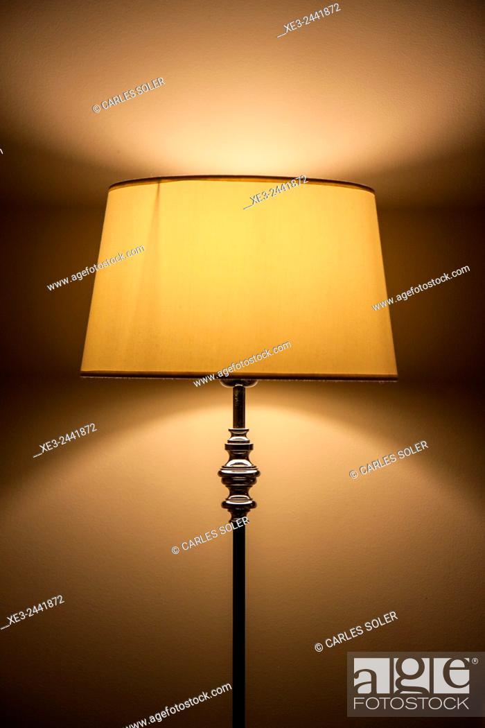 Stock Photo: Floor lamp.