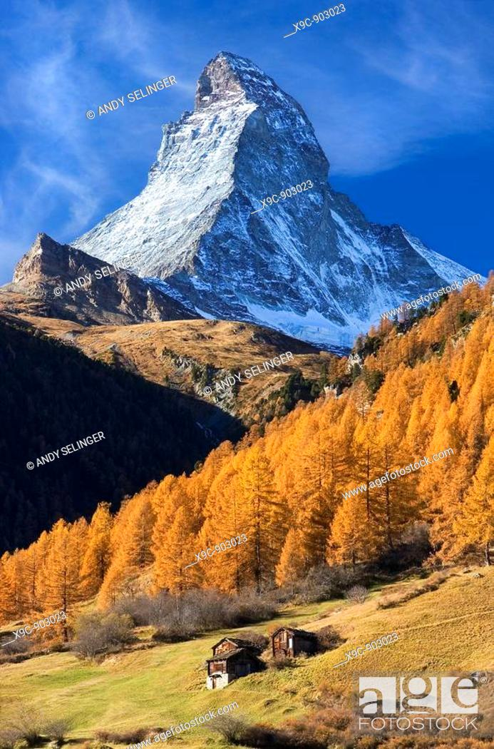 Stock Photo: The Matterhorn in Autumn.