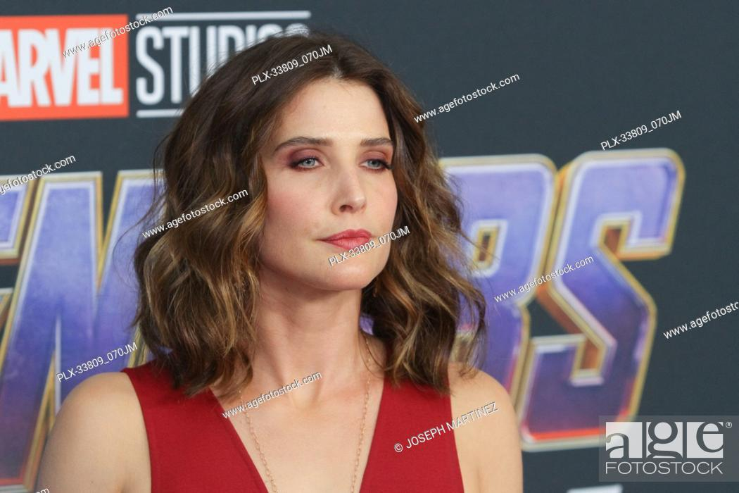 """Stock Photo: Cobie Smulders at The World Premiere of Marvel Studios' """"""""Avengers: Endgame"""""""" held at the Los Angeles Convention Center, Los Angeles, CA, April 22, 2019."""