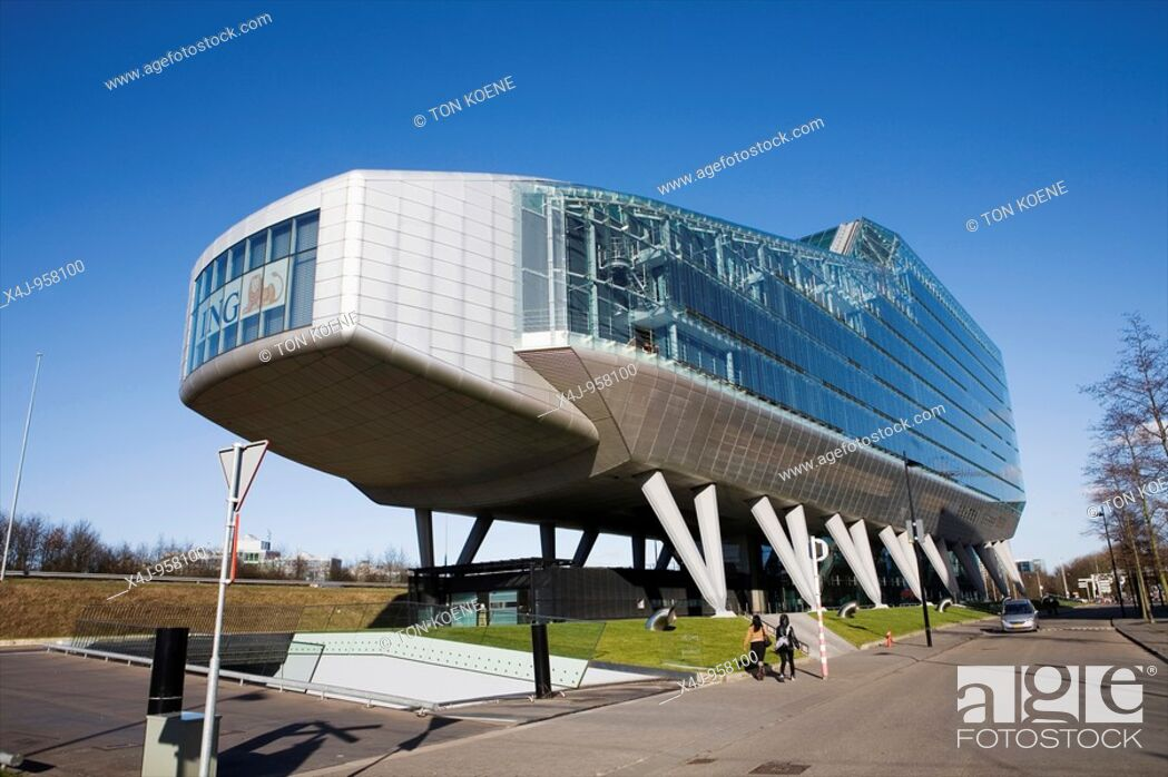 Ing Kantoor Amsterdam : Ing bank main office in amsterdam stock photo picture and rights