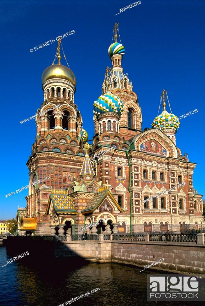 Stock Photo: Russia - St Petersburg - Resurrection of Christ Church.