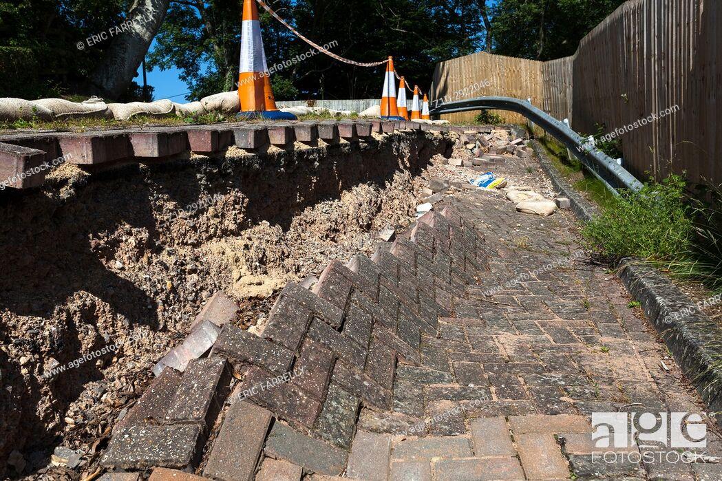 Imagen: road subsidence. Wiltshire.