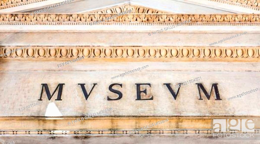 Stock Photo: Italian Museum Entrance.