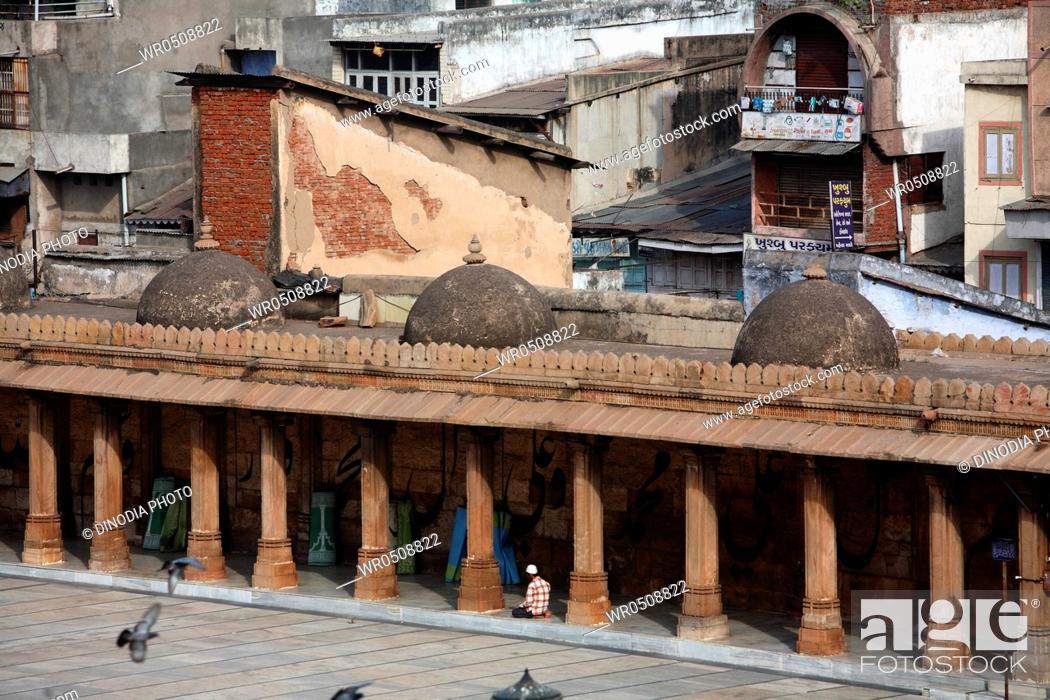 Stock Photo: Jama masjid in 1423 AD , Ahmedabad , Gujarat , India.