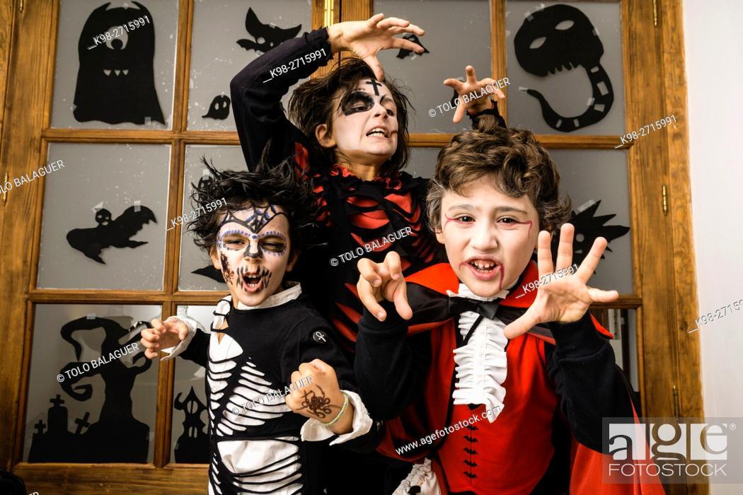 Stock Photo: festividad de Halloween, Esporles, Mallorca, Balearic Islands, Spain.