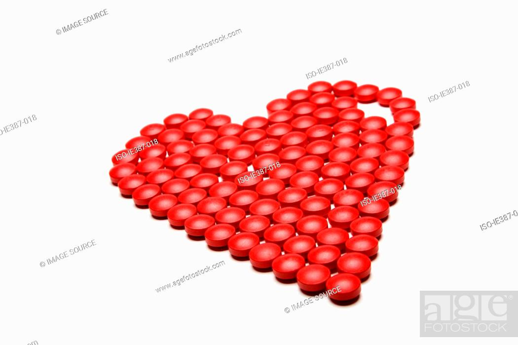 Stock Photo: Tablets shaped into a heart.