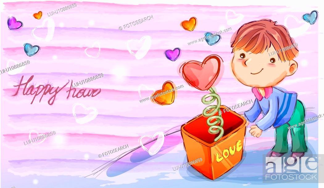 Stock Photo: imagination, fairy tale, fancy, heart, love, nature.
