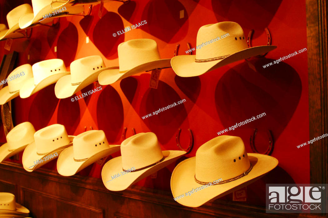 Stock Photo - Display of straw Stetson cowboy hats in a Western store in  Dallas 96fd2087c0c