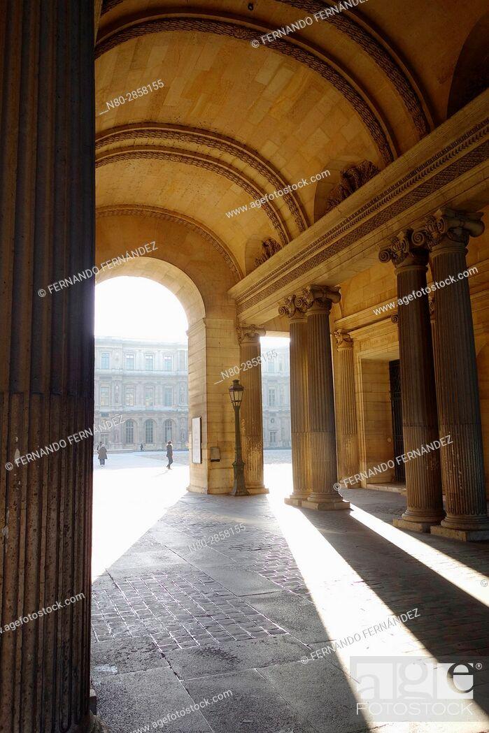 Stock Photo: Louvre Museum. Paris. France. Europe.