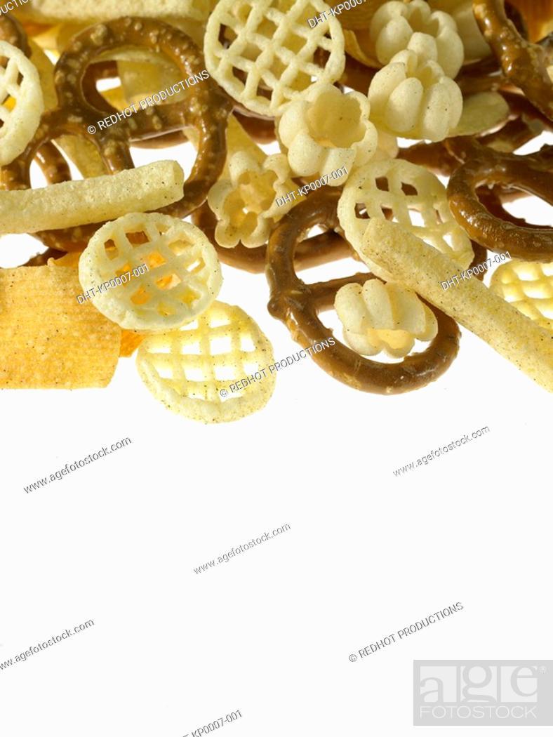 Stock Photo: Food - Assorted Crisps.