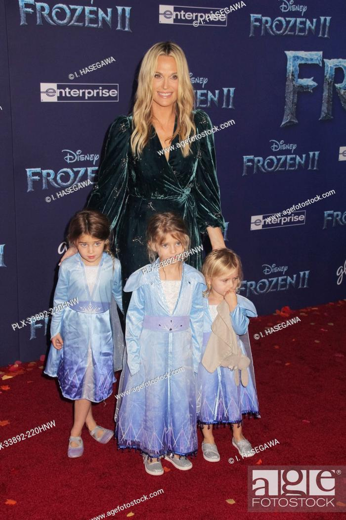 "Imagen: Molly Sims 11/07/2019 The World Premiere of """"Frozen 2"""" held at the Dolby Theatre in Los Angeles, CA. Photo by I. Hasegawa / HNW / PictureLux."