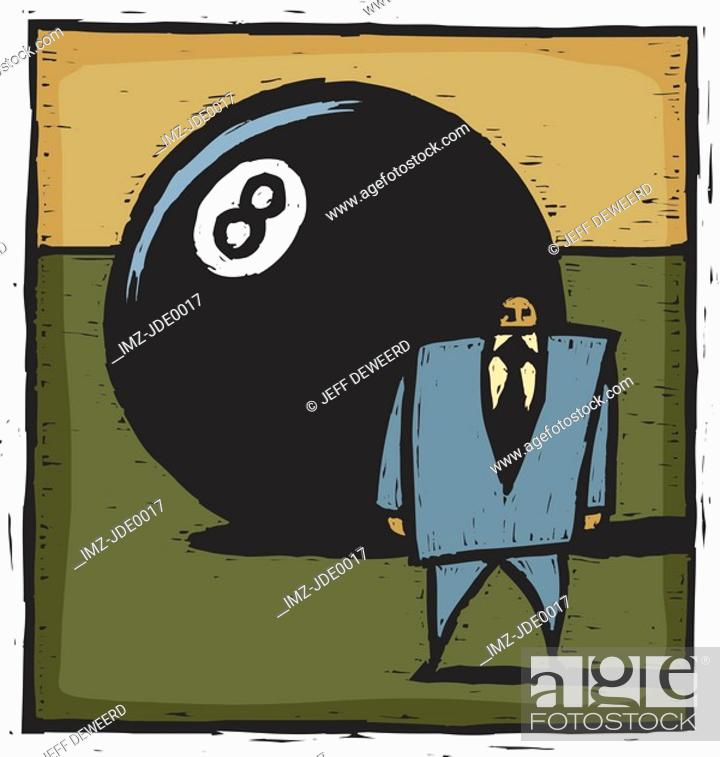 Stock Photo: eight ball.