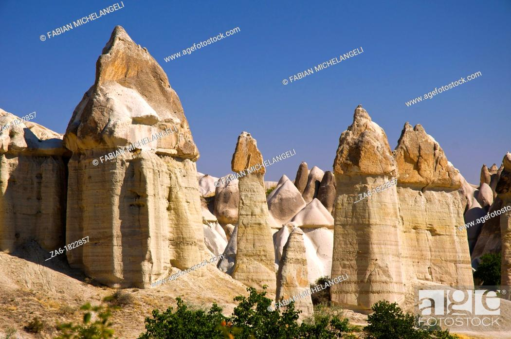Stock Photo: Fairy chimneys, Love Valley  Cappadocia, Central Anatolia, Turkey.