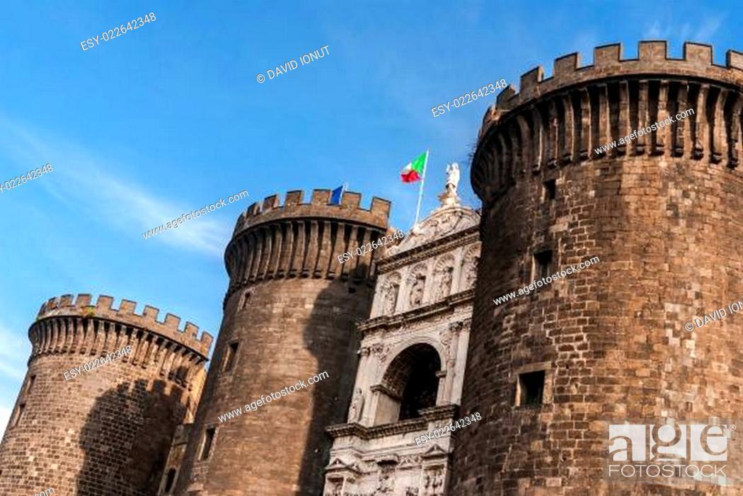 Stock Photo: Castle Nuovo, Naples, Italy.