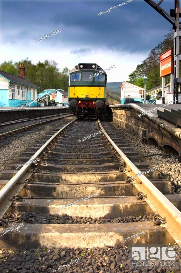 Stock Photo: Train, Grosmont, North Yorkshire, England.