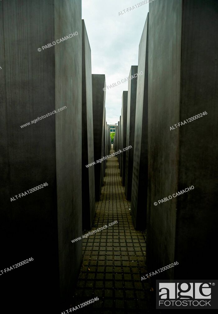 Stock Photo: Monument to the Murdered Jews of Europe.