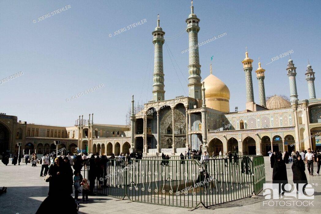 Stock Photo: Iran, Qom, Shrine of Fatemeh Masoumeh, Inner Court.