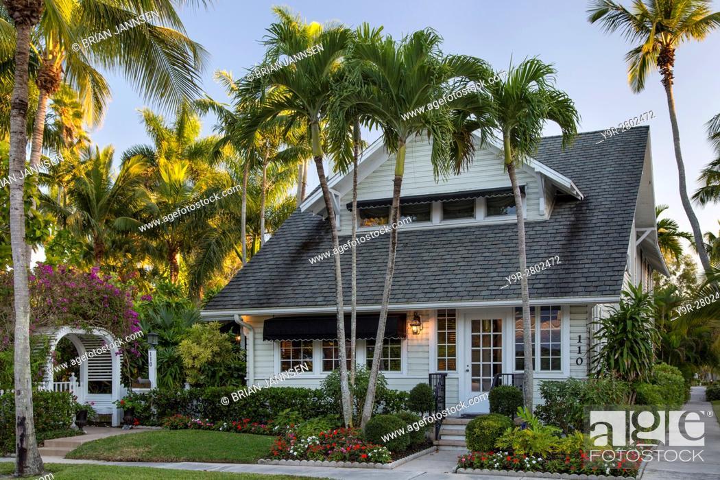 Stock Photo: Dupont family cottage in Naples, Florida, USA.